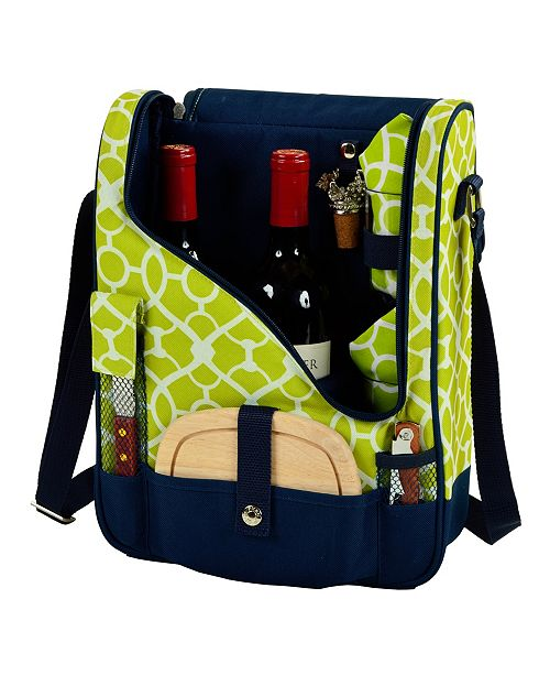 Picnic At Ascot Wine and Cheese Cooler Bag for 2 with Glasses and Accessories