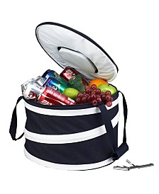 Picnic at Ascot 24 Can Collapsible Cooler with Clip-on Corkscrew - Leak Proof