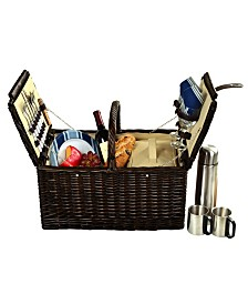 Picnic at Ascot Surrey Willow Picnic Basket with Coffee Set -Service for 2
