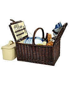 Buckingham Willow Picnic Basket with Service for 4