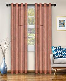 "Semi-Sheer Moroccan Printed Curtain Panels, Set of 2, 52"" x 96"""