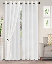 "Lightweight Foliage Semi-Sheer Curtain Panels, (2), 52"" x 96"""