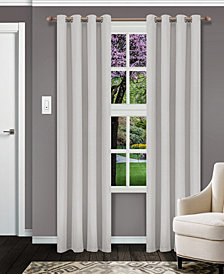 "Superior Solid Textured Blackout Curtain, Set of 2, 52"" x 63"""