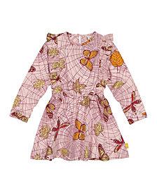 Masala Baby Girls Organic Cotton Fantasia Dress Spider Web Powder