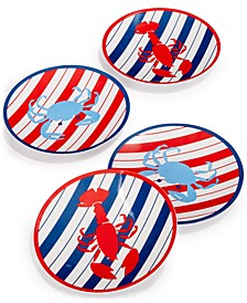 Grilling Melamine Appetizer Plates, Set of 4, Created for Macy's