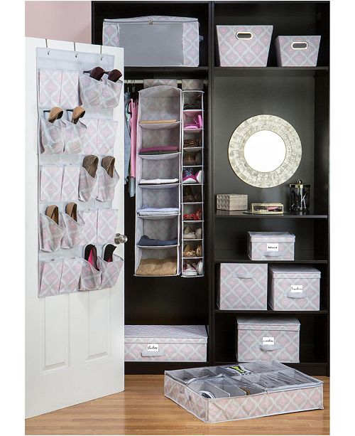 The Macbeth Collection Closet Candie 6 Shelf Hanging Organizer in Ikat
