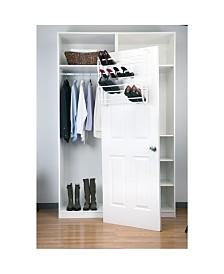 Simplify 36 Pair Adjustable Over The Door Shoe Rack