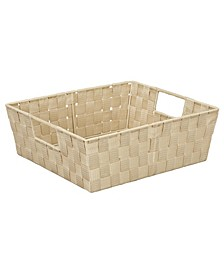 Large Woven Storage Bin in Ivory