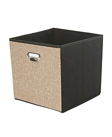 Linen Collapsible Storage Cube in Natural