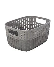 2-Tone Decorative Small Storage Basket in Gray