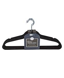 10 Super Slim Velvet Huggable Hangers in Black