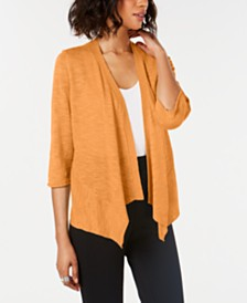 Alfani Petite Linen Open-Front Cardigan, Created for Macy's