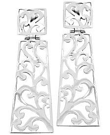 Bali Heritage Signature Carving Sterling Silver Stud  Earrings