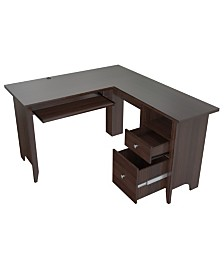 Inval America L Shaped Computer Writing Desk