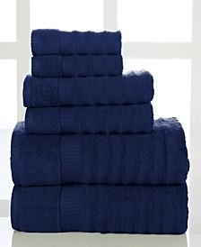 Quick Dry Cotton Ribbed 6 Piece Towel Set