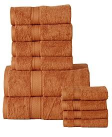 Casa Platino Soft and Luxurious Cotton 10 Piece Towel Set