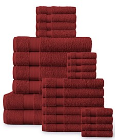 Economic Collection Soft Cotton 24 Piece Towel Set