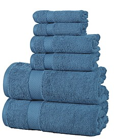 Luxurious 600 GSM Cotton 6 Piece Towel Set