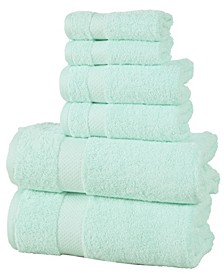 Luxurious 600 GSM Cotton 6 Piece Towel Set