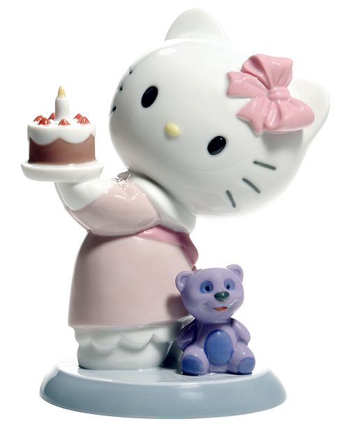 Nao By Lladro Hello Kitty Happy Birthday Collectible Figurine