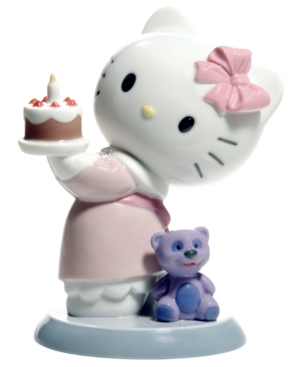 Nao by Lladro Collectible Figurine, Hello Kitty Happy Birthday!