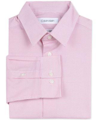 Big Boys Slim-Fit Stretch Dot-Print Dress Shirt