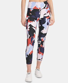DKNY Sport Printed Ankle Leggings, Created for Macy's