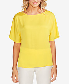 Vince Camuto Pleated-Back Top