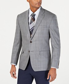 Lauren Ralph Lauren Men's Classic-Fit UltraFlex Stretch Gray/Blue Houndstooth Sport Coat