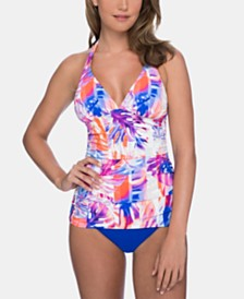 Profile by Gottex Printed Tankini Top & High-Waist Bottoms