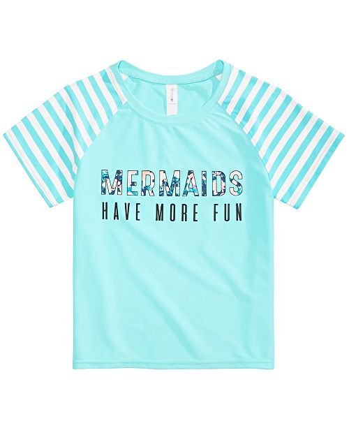 Ideology Big Girls Mermaids Graphic Rash Guard, Created for Macy's