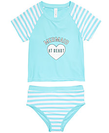 Ideology Little Girls 2-Pc. Mermaid Rash Guard Swimsuit, Created for Macy's