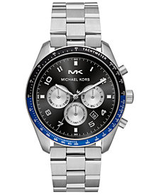 Michael Kors Men's Chronograph Keaton Stainless Steel Bracelet Watch 43mm