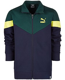 Puma Big Boys Colorblocked Zip-Up Jacket