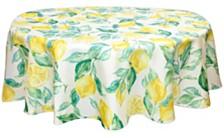 "Bardwil Lemons 70"" Round Indoor/Outdoor Tablecloth"