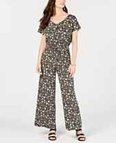 888c86be43 Style   Co Petite Printed V-Neck Jumpsuit