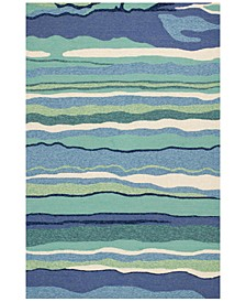 "Harbor Lagoon 4216 Ocean 7'6"" x 9'6"" Indoor/Outdoor Area Rug"