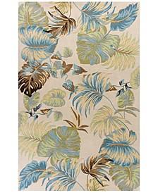Havana Oasis 2630 Ivory/Blue 5' x 8' Area Rug