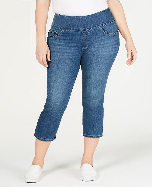 fac9e43862 Lee Platinum Plus Size Pull-On Sculpting Capri Jeans & Reviews ...
