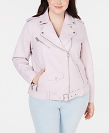 Levi's® Plus Size Faux-Leather Moto Jacket