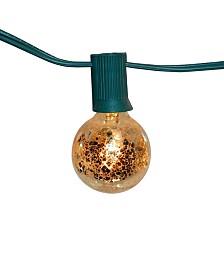 Lumabase 25 Gold Mercury Finish Electric Globe String Lights