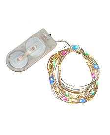 Lumabase Set of 6, 120 Battery Operated LED Fairy String Lights