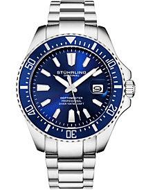 Stuhrling Original Men's Diver Stainless Steel Bracelet Watch