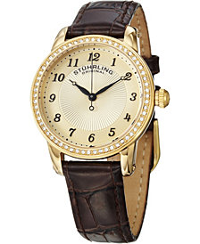 Stuhrling Original Classy Ladies Ultra Slim Quartz Watch