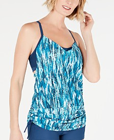 GO by Gossip Deep Dive Convertible Tankini Top, Created for Macy's