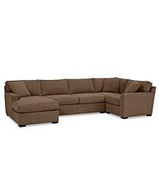 Radley 4-Pc. Fabric Chaise Sectional Sofa with Corner Piece, Created for Macy's