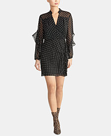 RACHEL Rachel Roy Polka-Dot Ruffle Sleeve Dress, Created for Macy's