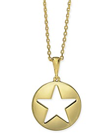 "Gold-Tone Star 15-1/4"" Mini Pendant Necklace"