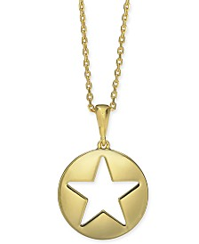 "Kate Spade New York  Gold-Tone Star 15-1/4"" Mini Pendant Necklace"