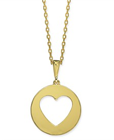 "Gold-Tone Heart 16"" Mini Pendant Necklace"